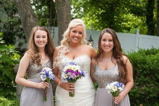 CJ's Off the Square Garden Venue Bridesmaids