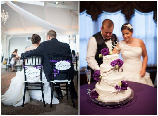 Purple and White Garden Wedding at CJ's Off the Square