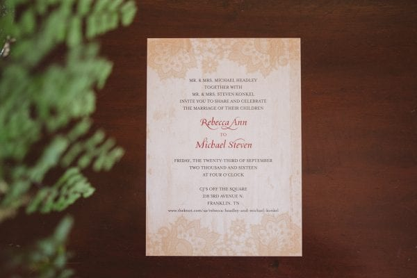 Rebecca and Mike September Red Garden Southern Wedding at CJs Off the Square Nashville TN (1)