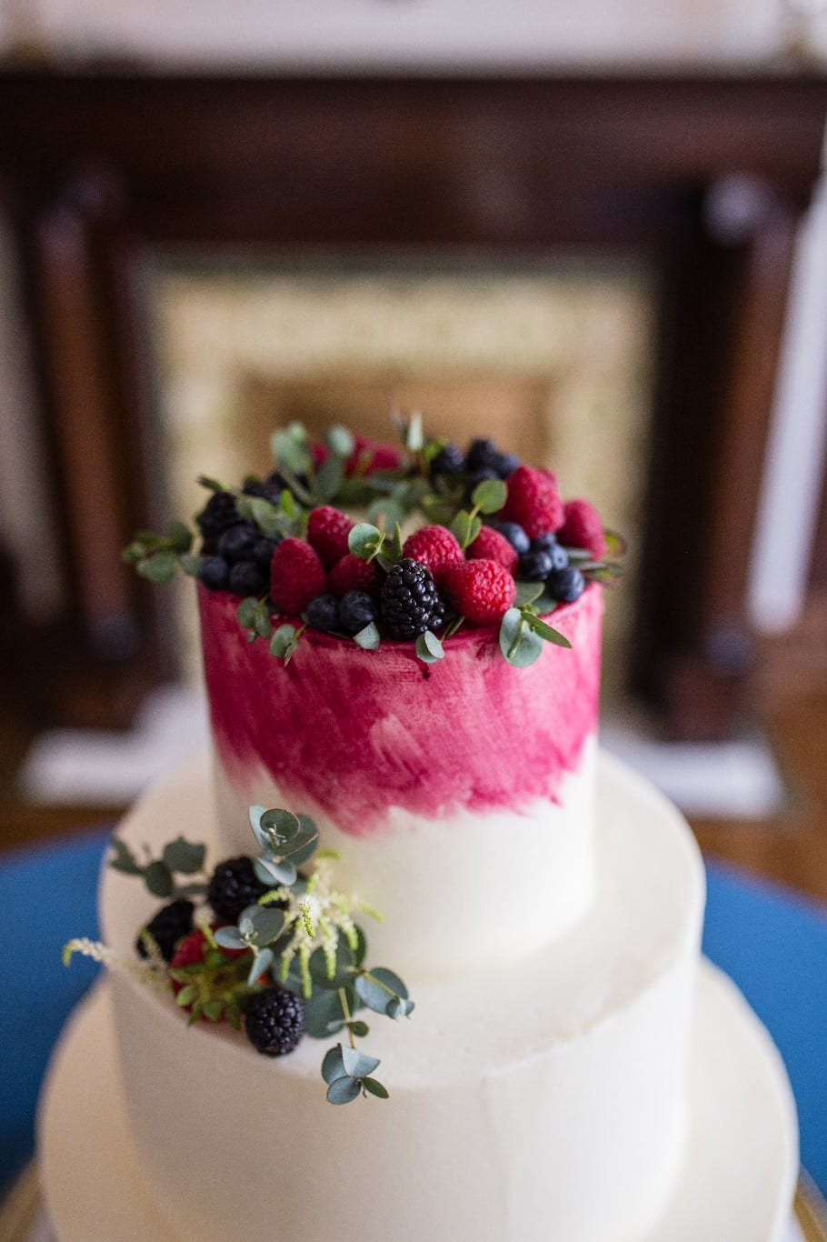 Berry wedding cake by Wolfe Gourmet Cakes