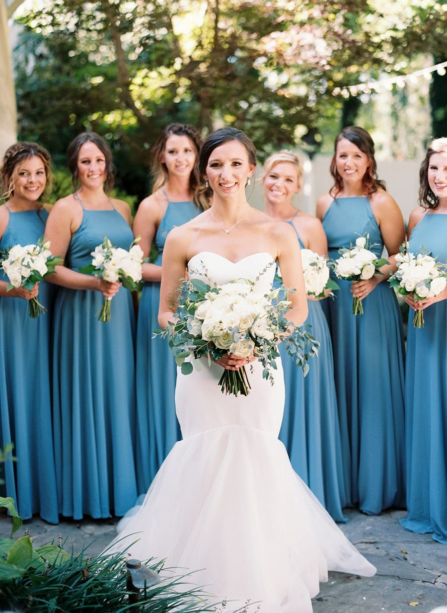 Nashville Garden Wedding Blue and Grey