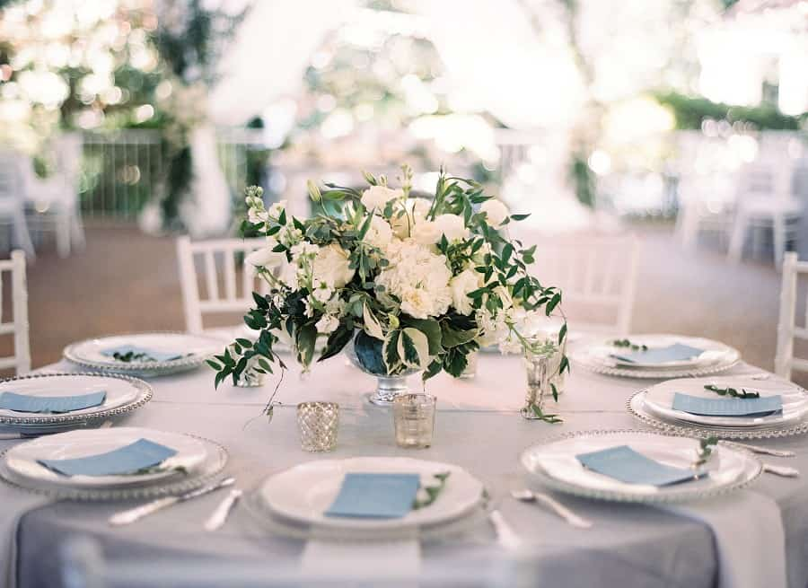 Nashville Wedding Venue Grey and Blue Reception