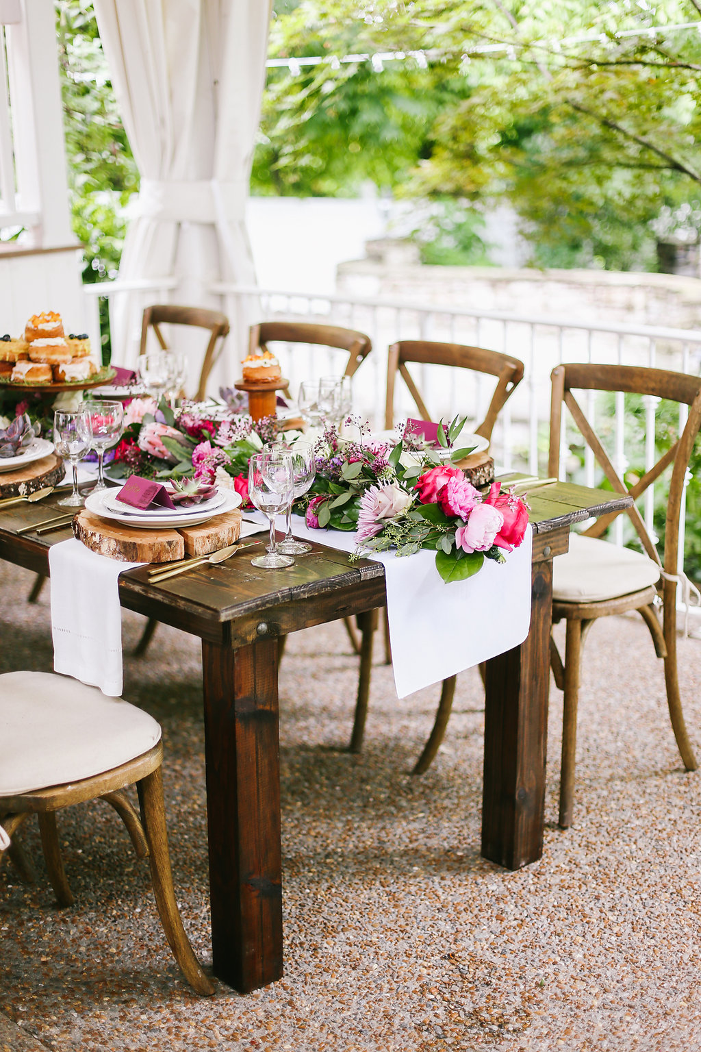 Nashville Wedding Venue Cross Back Chairs