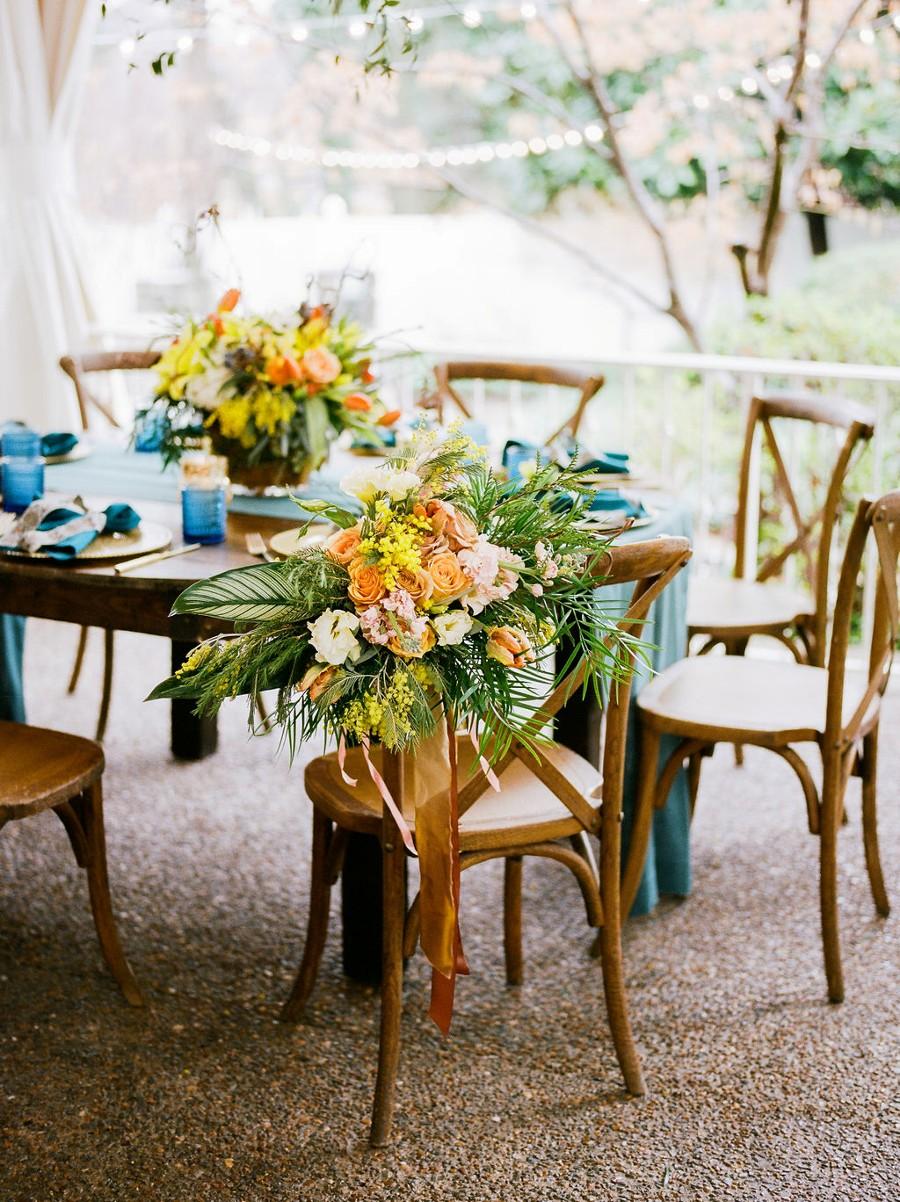 Rustic blue wedding decor